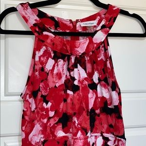 Calvin Klein maxi dress with pockets 6 red